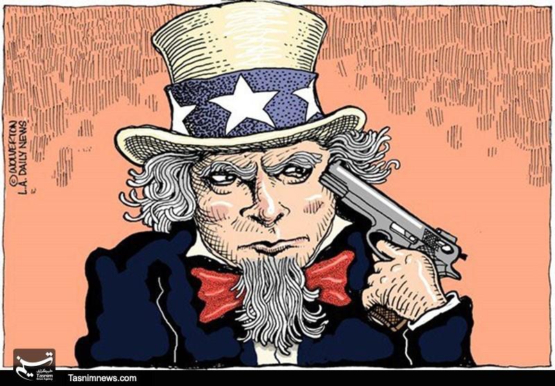 کاریکاتور مرگ تدریجی آمریکا.jpg (800×557)