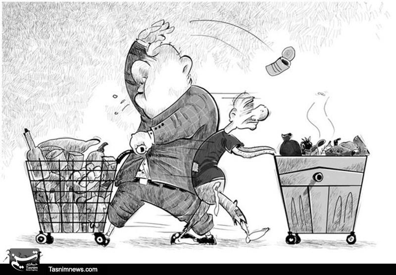 کاریکاتور تفاوت ثروتمند و فقیر.jpg (800×557)