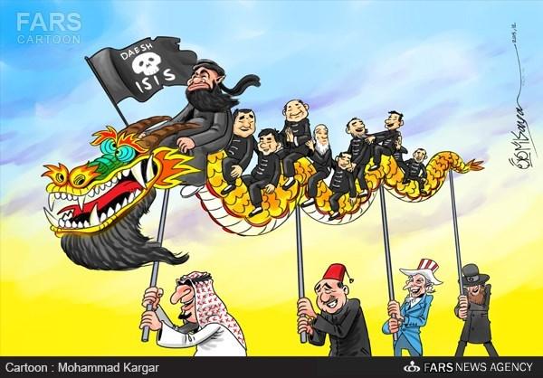 کاریکاتور داعش چینی داعش به دنبال جذب چینیهای افراطی.jpg (600×418)